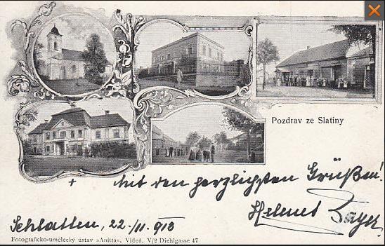 Slatina kolem roku 1913
