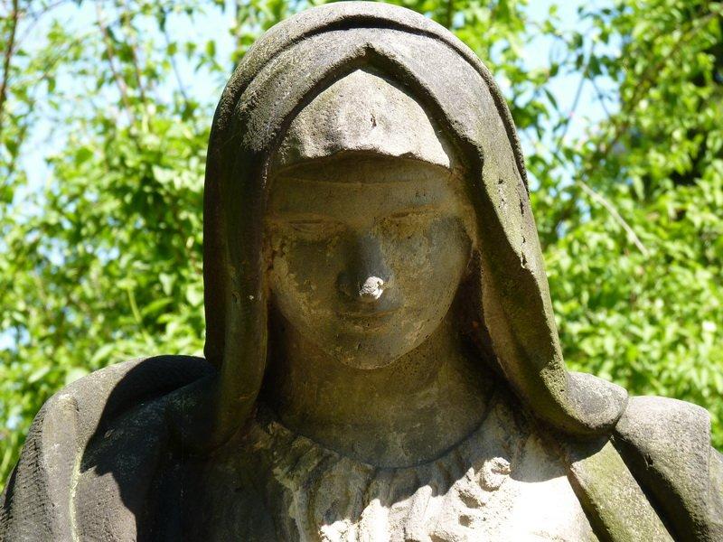 Pieta, detail tvare