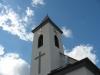 POhled na kostel po instalaci hodin